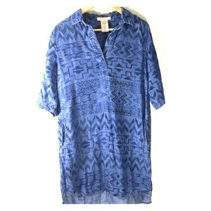 Philosophy western aztec boho dress size small